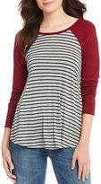 Moa Moa Stripe Long Sleeve Raglan Swing Top