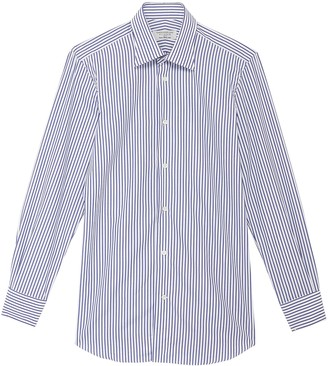 TOMORROWLAND Point collar stripe cotton poplin button-up shirt