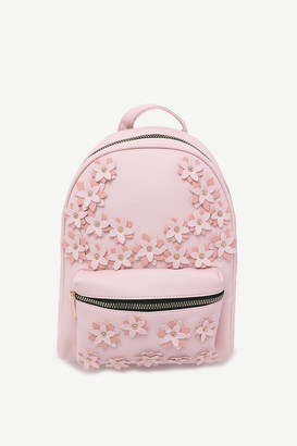 Ardene Floral Faux Leather Backpack