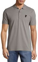 Versace Solid Signature Cotton Polo