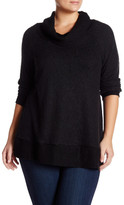 Bobeau Cowl Neck Fleece Tunic (Plus Size)