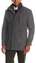 London Fog Men's Wool Car Coat with Bib