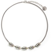 Anton Heunis Swarovski crystal leather charm necklace
