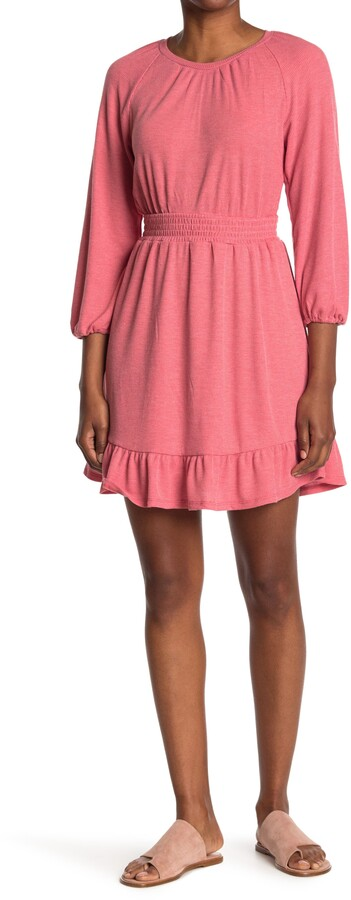 Thumbnail for your product : Collective Concepts Smocked Waist Ruffle Day Dress
