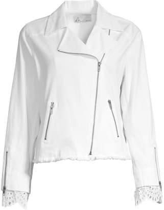 Dh New York Eyelet Cuff Moto Jacket