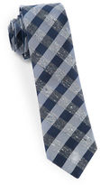 The Tie Bar Splattered Gingham Silk Tie