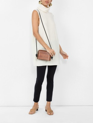 Cowl Neck Sleeveless Sweater White