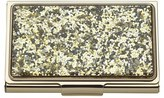 Kate Spade Women's Glitter Business Card Holder - Metallic