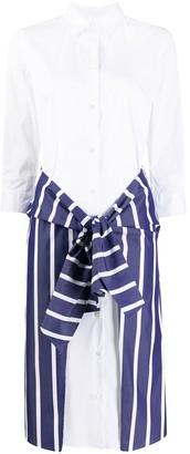 Sara Roka Contrast Panel Shirt Dress