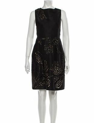 Oscar de la Renta 2010 Mini Dress Black