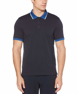 Perry Ellis Men's Pima Cotton Short Sleeve Polo Shirt