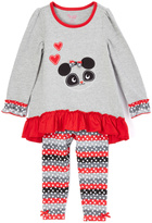 Nannette Gray & Red Bear Tunic & Leggings - Girls