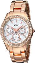 XOXO Women's Rhinestone Accent Rose Bracelet Watch XO5386