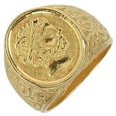 Torrini Socrates - Engraved Oval Yellow Gold Men's Ring