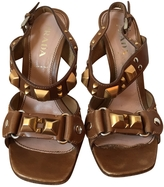 Prada Beige Leather Sandals