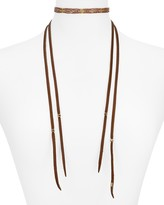 Chan Luu Leather Choker Necklace, 10.8