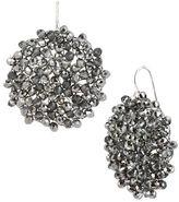 Kenneth Cole New York Black Diamond-Crystal Woven Drop Earrings