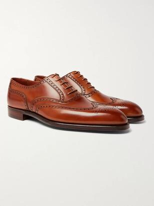 George Cleverley Reuben Full-Grain Leather Wingtip Brogues