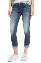 KUT from the Kloth Petite Women's Fray Cuff Straight Leg Jeans