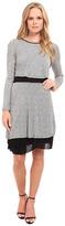 Kensie Streaky Slub Knit Jersey Dress KS9K7656