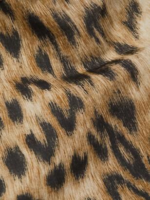 Victoria Beckham Leopard-Print Patch Pocket Trench Coat