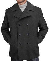 BGSD Men's 'Mark' Classic Wool Blend Pea Coat - XXL