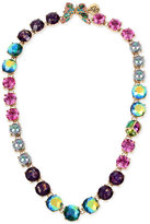 Betsey Johnson Gold-Tone Butterfly and Scarab Colorful Crystal Collar Necklace