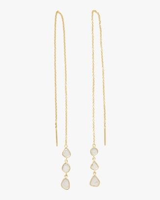Amrapali Polki Diamond Slice Triple Drop Chain Earrings