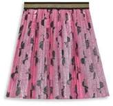 Gucci Little Girl's & Girl's Lurex Bows Pleated Skirt