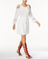 Bar III Embroidered Cold-Shoulder Dress, Only at Macy's