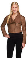 As Is Nicole Richie Collection Cropped Jacket w/Faux Leather