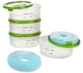 Fit & Fresh 1/2-Cup Smart Portion Container Set with Ice Packs