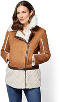 New York & Co. Faux-Suede & Faux-Shearling Coat