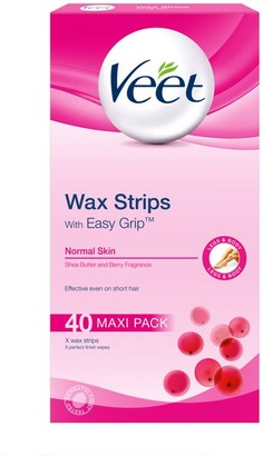 Veet Easygrip Ready-To-Use Wax Strips X40 & Perfect Finish Wipes X4 - Normal Skin