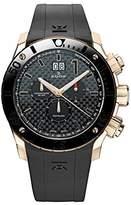 Edox Men's 10020 37R NIR Chronoffshore Analog Display Swiss Quartz Black Watch