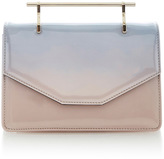 M2Malletier Indre Cross Body Bag Pink & Blue Patent