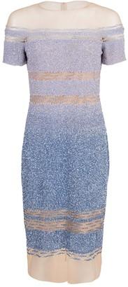 Pamella Roland Ocean Blue Degrade Sequin Dress