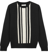 Chinti and Parker Striped Intarsia Merino Wool Sweater - Black