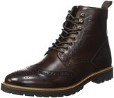 Base London Mens Troop Washed Leather Boots 9 US