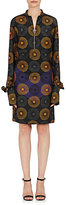 Nina Ricci Women's Circle-Print Silk Long-Sleeve Dress