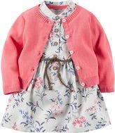 Carter's 2-pc. Short-Sleeve Dress & Cardigan Set - Baby Girls newborn-24m