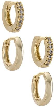 Adina's Jewels Mini Huggie Earring Combo Set