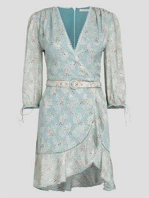 Jonathan Simkhai Fiorella Medallion Jacquard Wrap Dress