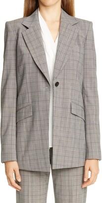 Lafayette 148 New York Virginia Plaid Wool Blend Blazer