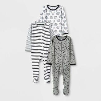 N. Baby 3pk Zip-Up Sleep N' Play - Cloud IslandTM Black