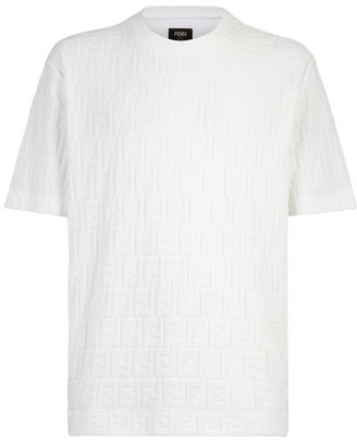 Fendi White chenille T-shirt