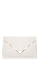 Quiz White PU Gold Trim Envelope Bag