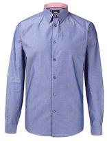Burton Mens Blue Long Sleeve Chambray Shirt