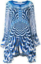 Mary Katrantzou ruffled semi-sheer asymmetric dress - women - Silk - 6
