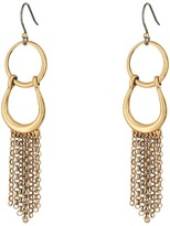 Lucky Brand Front Facing Hoop with Fringe Earrings Earring